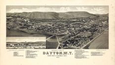 Dayton 1884 Bird's Eye View 17x29, Dayton 1884 Bird's Eye View